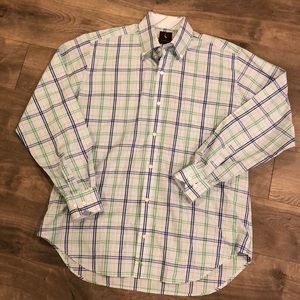 Tailorbyrd Dress Shirt Size Large Plaid Blue